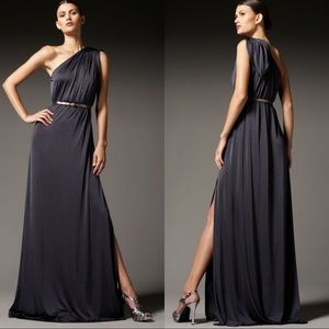 Halston Heritage One Shoulder Knot Gown, Size S